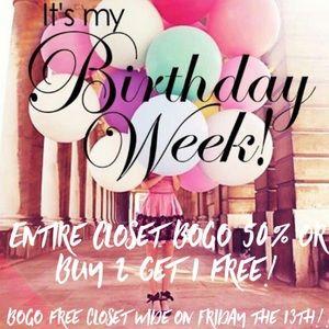 LAST DAY OF BIRTHDAY SALES!!!